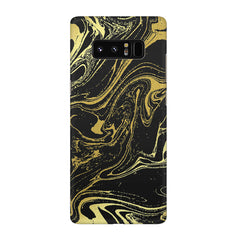 Golden black marble design Galaxy note 8  printed back cover
