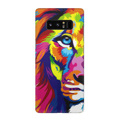 Colourfully Painted Lion design,  Galaxy note 8  printed back cover