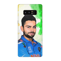 Virat Kohli Oil Painting India design,  Galaxy note 8  printed back cover