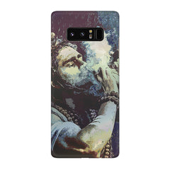 Smoking weed design Galaxy note 8  printed back cover