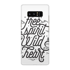 I am a free spirit design Galaxy note 8  printed back cover