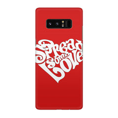 Spread some love design Galaxy note 8  printed back cover