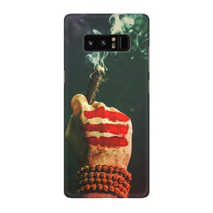 Smoke weed (chillam) design Galaxy note 8  printed back cover