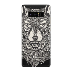 Fox illustration design Galaxy note 8  printed back cover