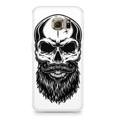 Skull with the beard  design,  Samsung S6  printed back cover