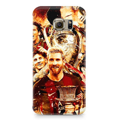 Messi  design,  Samsung S6  printed back cover