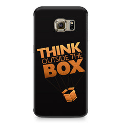 Think Outside The Box- Entrepreneur Lines design,  Samsung S6 Edge Plus  printed back cover
