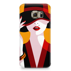 Classy girl  design,  Samsung S6  printed back cover