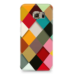 Graphic Design diamonds   Samsung S6  printed back cover