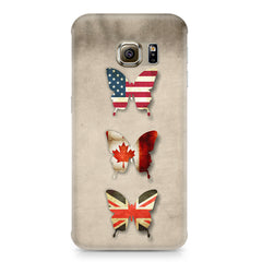 Butterfly in country flag colors Samsung S6  printed back cover