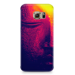 Half red face sculpture  Samsung S6  printed back cover