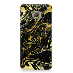 Golden black marble design Samsung S7  printed back cover