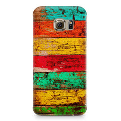 Strips of old painted woods  Samsung S6  printed back cover