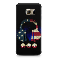 America tunes Blue sprayed  Samsung S6  printed back cover