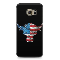 The Rock with flag colors Samsung S6 Edge G9250  printed back cover