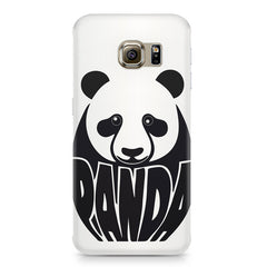 White Panda  design,  Samsung S6 Edge G9250  printed back cover