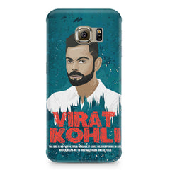 Virat Kohli Indian Cricket Team Captain Quote design,  Samsung S6 Edge Plus  printed back cover