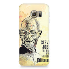 Steve Jobs Apple Art design,  Samsung S6 Edge Plus  printed back cover