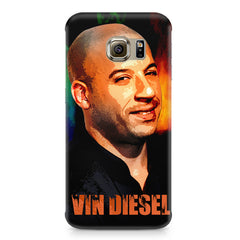Vin Diesel Oil Painting Fanart design,  Samsung S6 Edge G9250  printed back cover