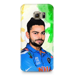 Virat Kohli Oil Painting India design,  Samsung S6 Edge G9250  printed back cover