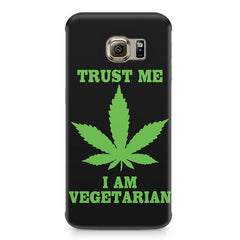 Vegan weeed design Samsung S6 Edge G9250  printed back cover