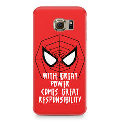 Spider man design Samsung S6 Edge G9250  printed back cover
