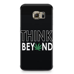 Think beyond weed design Samsung S6  printed back cover
