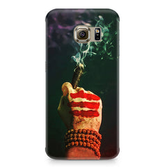 Smoke weed (chillam) design Samsung S6  printed back cover