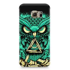 Owl Art design,  Samsung S6  printed back cover
