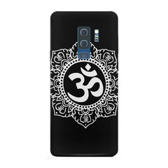 Ethnic Pattern with OM inscribed Samsung S9 Plus hard plastic printed back cover.