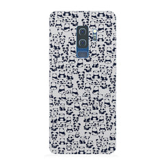 Cute Pandas all over the cover design Samsung S9 Plus all side printed hard back cover by Motivate box Samsung S9 Plus hard plastic printed back cover.