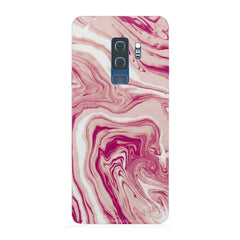 Pink marble texture design Samsung S9 Plus all side printed hard back cover by Motivate box Samsung S9 Plus hard plastic printed back cover.
