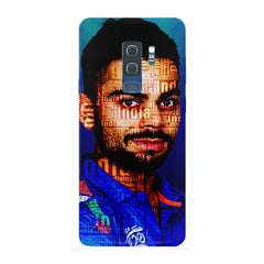 Virat Kohli India inscribed design Samsung S9 Plus all side printed hard back cover by Motivate box Samsung S9 Plus hard plastic printed back cover.