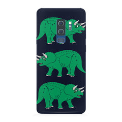 Stegosaurus cartoon design Samsung S9 Plus hard plastic printed back cover.