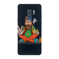 Man smoking joint pattern Samsung S9 Plus hard plastic printed back cover.