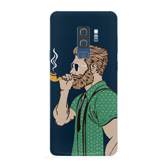 Man smoking cigar Samsung S9 Plus hard plastic printed back cover.