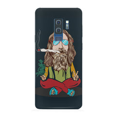 Baba Smoking Cigar design Samsung S9 Plus hard plastic printed back cover.
