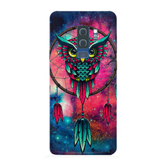 Good luck Owl sketch design Samsung S9 Plus all side printed hard back cover by Motivate box Samsung S9 Plus hard plastic printed back cover.