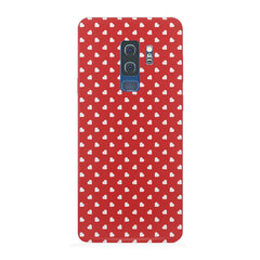 Cute hearts all over the cover design Samsung S9 Plus hard plastic printed back cover/case Samsung S9 Plus hard plastic printed back cover.