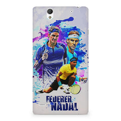 Federer and Nadal Oil Fanart design,  Sony Xperia C4 printed back cover