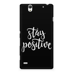 Positive motivation design Sony Xperia C4 printed back cover