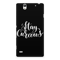 Be curious design Sony Xperia C4 printed back cover