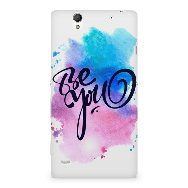 Be yourself design Sony Xperia C4 printed back cover