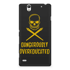 Dangerously overeducated design Sony Xperia C4 printed back cover