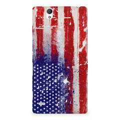 American flag design Sony Xperia C4 printed back cover