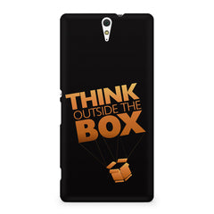 Think Outside The Box- Entrepreneur Lines design,  Sony Xperia C5 printed back cover