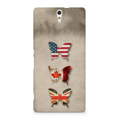 Butterfly in country flag colors Sony Xperia C5 printed back cover