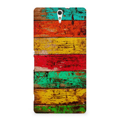 Strips of old painted woods  Sony Xperia C5 printed back cover