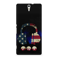 America tunes Blue sprayed  Sony Xperia C5 printed back cover