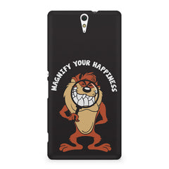 Magnify Your Happiness funny design Sony Xperia C5 printed back cover